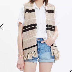 Madewell Coastward Fringe Sweater-Vest Size M-L